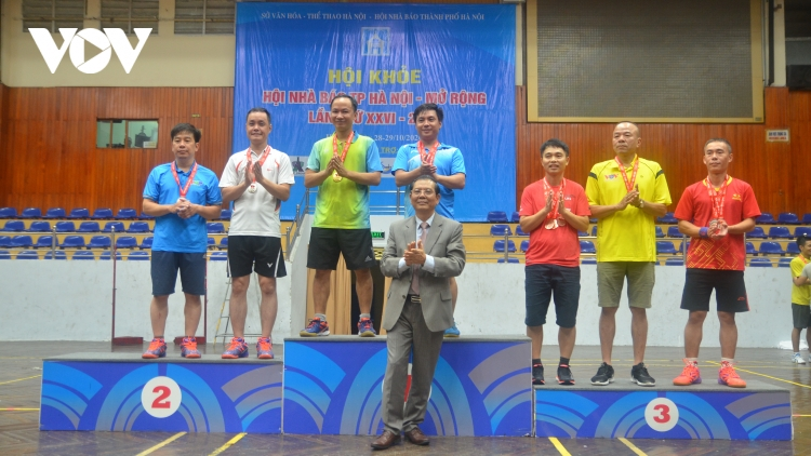 Bế mạc Hội khỏe Hội Nhà báo thành phố Hà Nội năm 2020: Đội cầu lông VOV giành 5 HCV