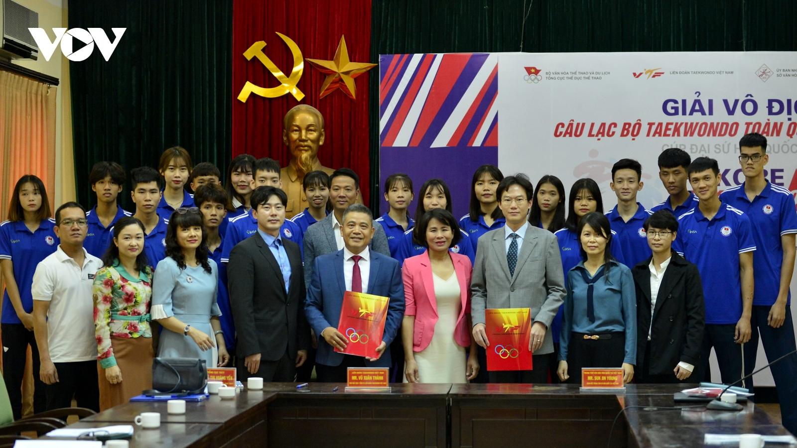 Hơn 700 VĐV tham dự Giải vô địch CLB Taekwondo Cúp Đại sứ Hàn Quốc 2020