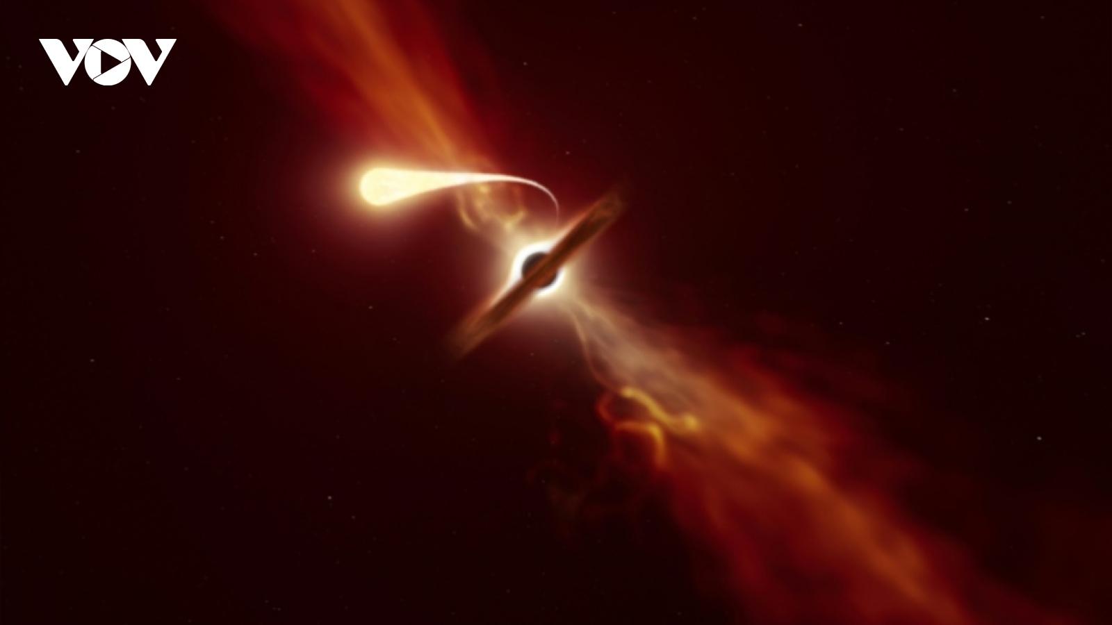 """Video: Khoảnh khắc hố đen """"quái vật"""" nuốt chửng một ngôi sao"""