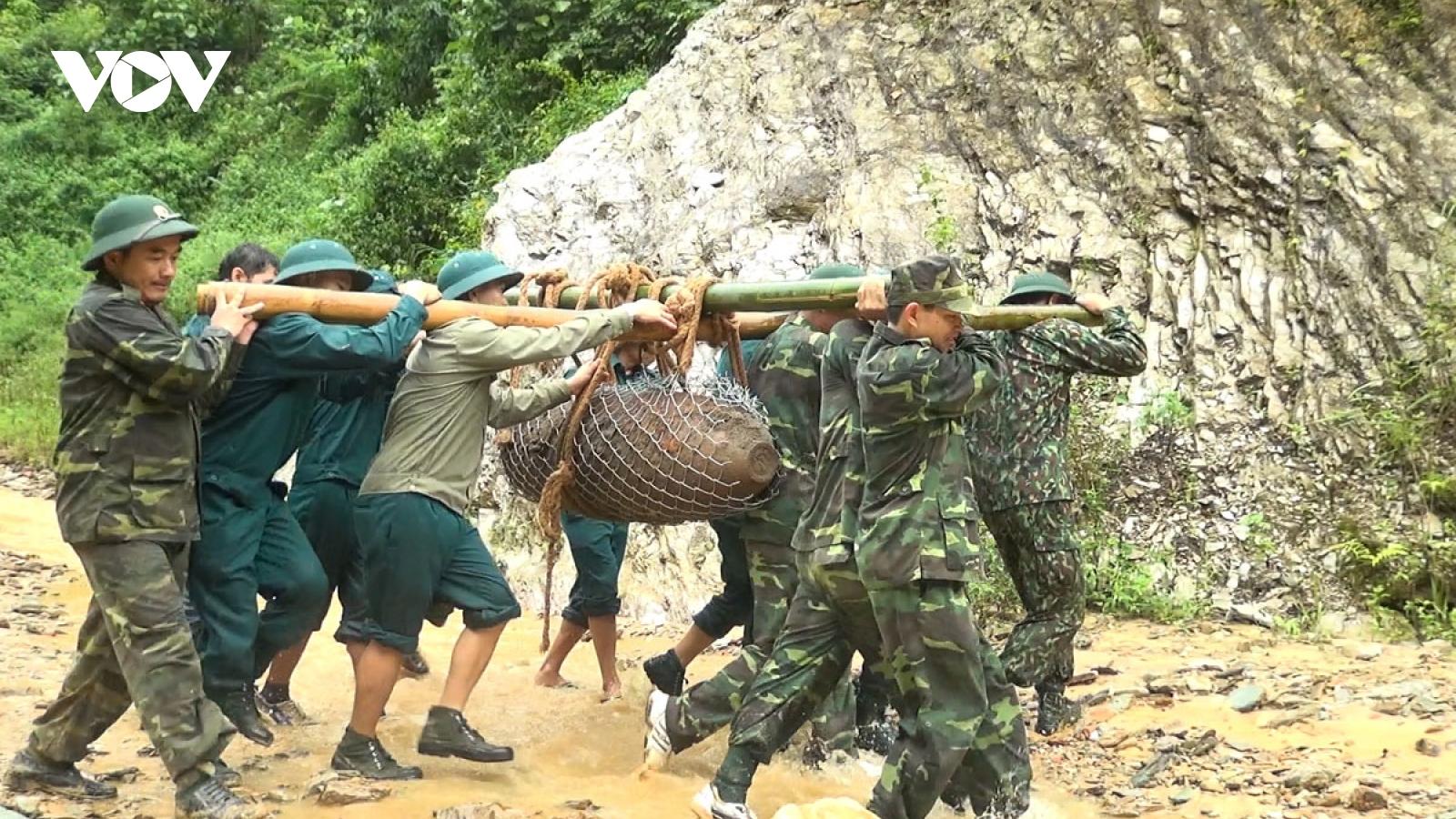 """Hủy nổ 2 quả bom """"khủng"""" ở Sơn La"""