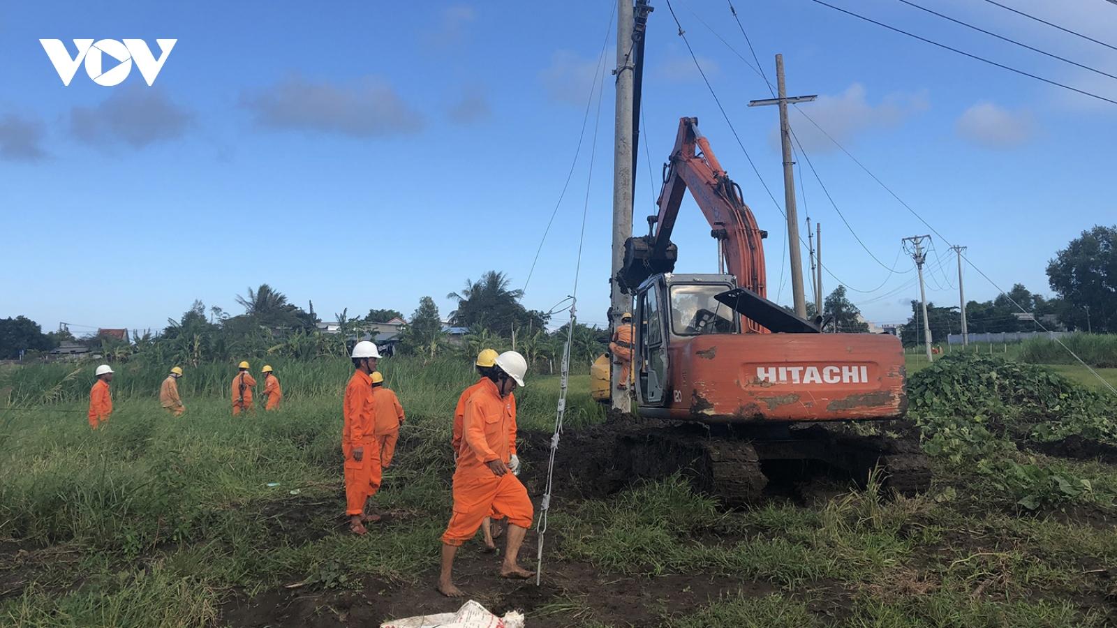 Điện lực miền Trung đang cấp điện trở lại