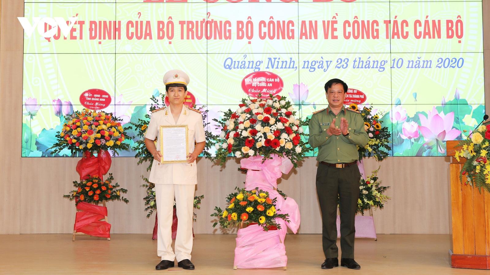Điều động Trung tá Mai Thế Quang giữ chức Phó Giám đốc Công an Quảng Ninh