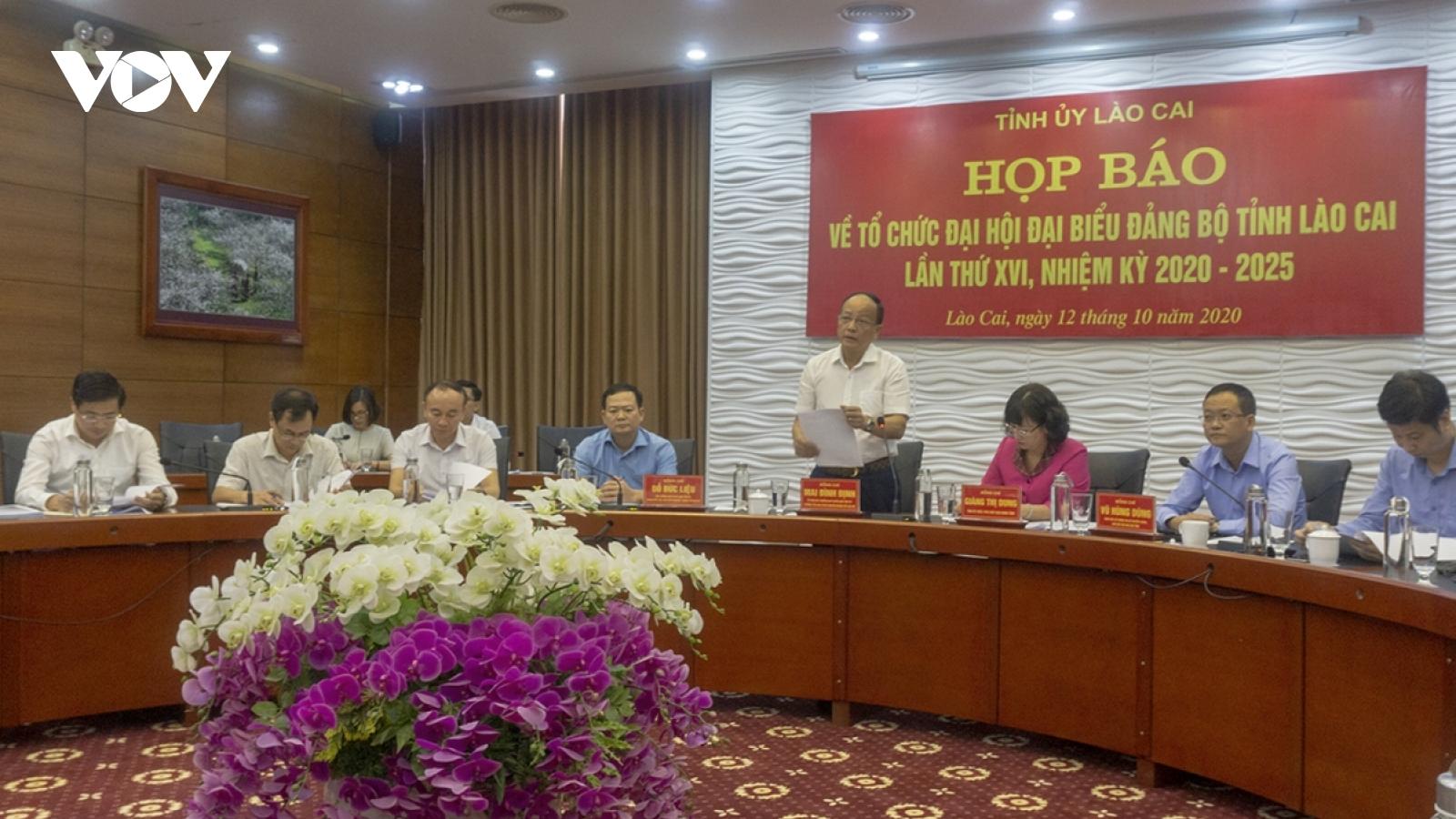 Lào Cai giới thiệu 55 đồng chí vào danh sách bầu Ban Chấp hành Đảng bộ tỉnh khóa mới