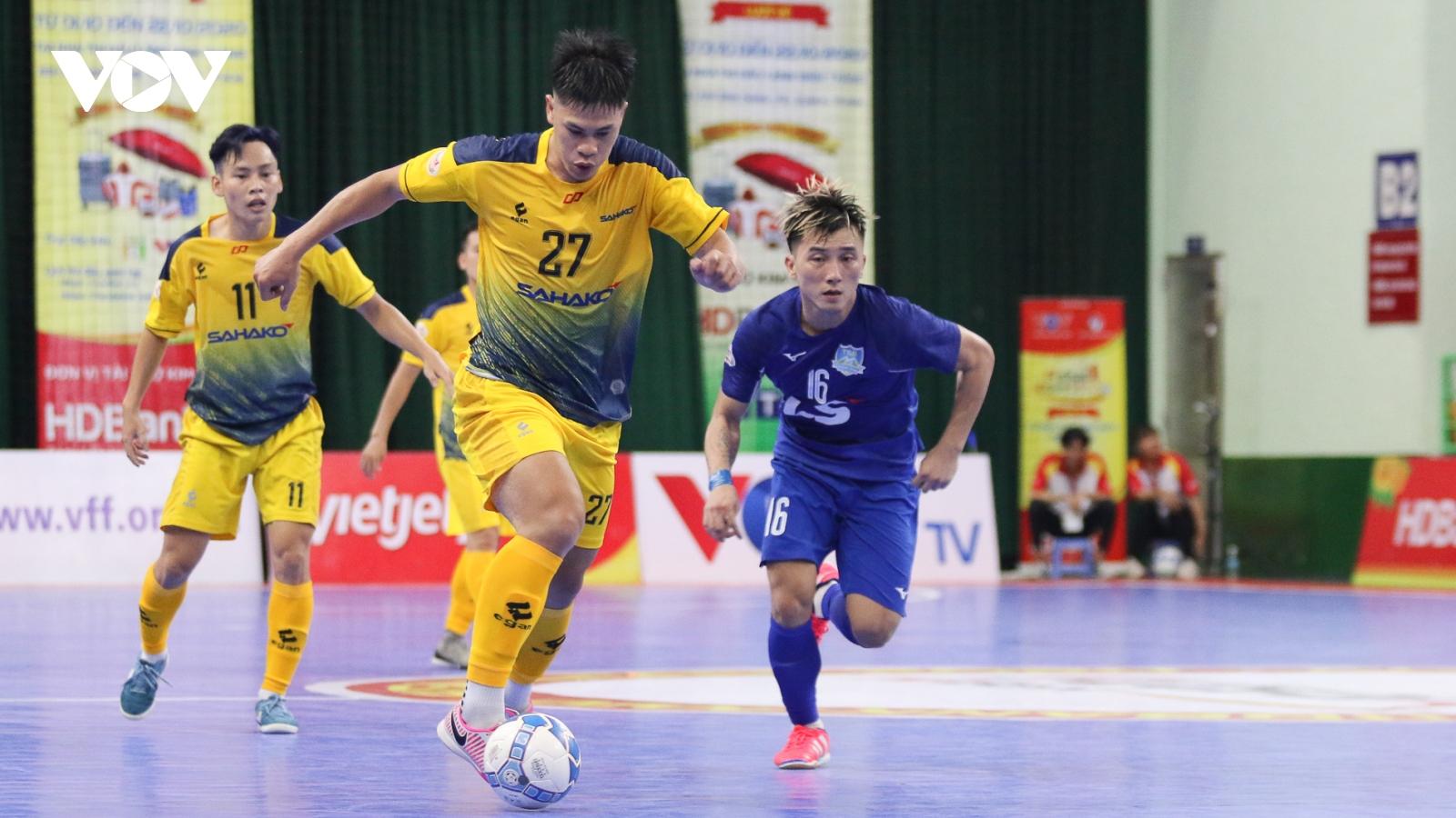 Lượt 10 giải futsal HDBank VĐQG 2020: Đắc Huy ghi bàn, Sahako chật vật giành 1 điểm