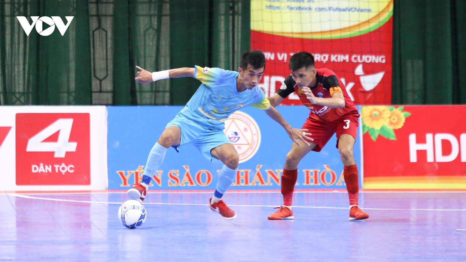 """Futsal HDBank VĐQG 2020: Sanvinest Sanatech Khánh Hòa khuất phục """"ngựa ô"""" Đà Nẵng"""