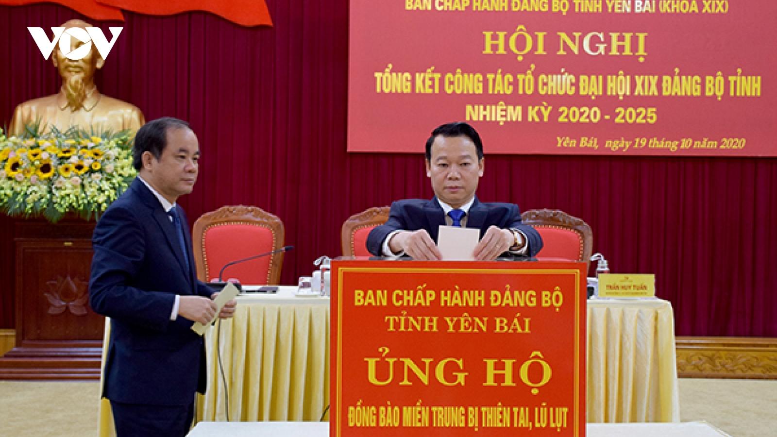 Tỉnh ủy Yên Bái kêu gọi ủng hộ đồng bào miền Trung