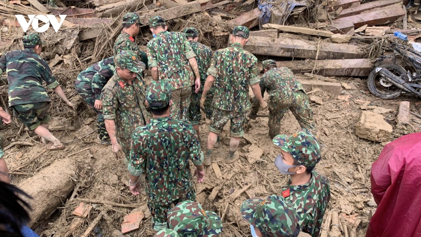 Tìm thấy thêm 1 thi thể bị vùi lấp ở xã Phước Lộc, huyện Phước Sơn