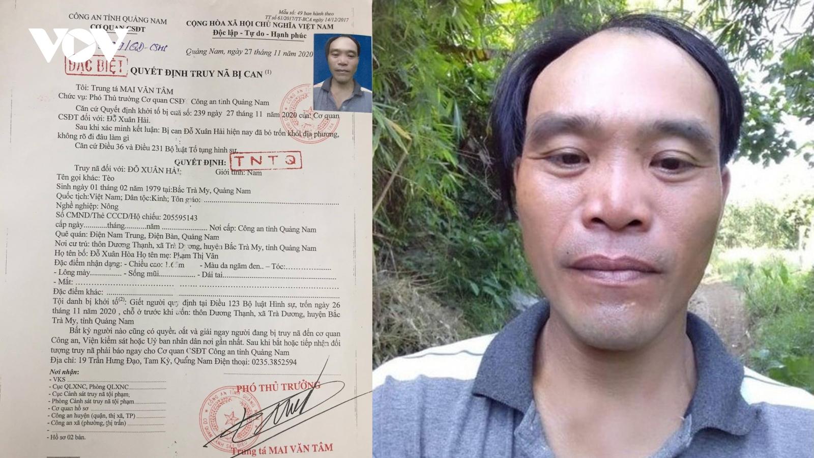 Truy nã đối tượng gây ra 2 vụ nổ súng liên tiếp ở Quảng Nam