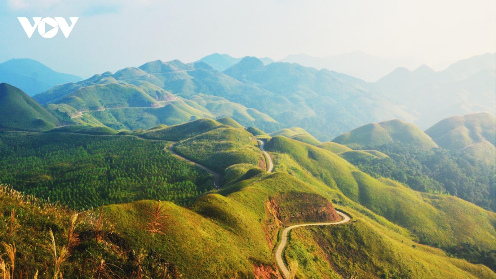 """Bình Liêu – """"Thiên đường"""" của cỏ lau, lúa vàng và biên cương hùng vĩ"""