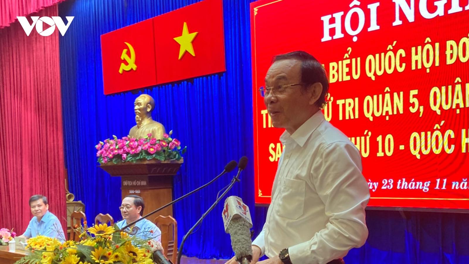 Cử tri TPHCM kiến nghị lãnh đạo Đảng có lịch tiếp dân