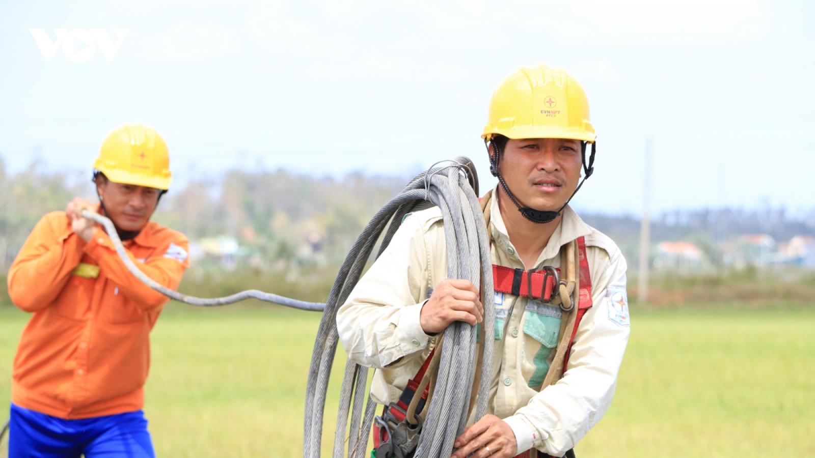 Xử lý xong sự cố đường dây 110kV Quảng Ngãi – Tư Nghĩa