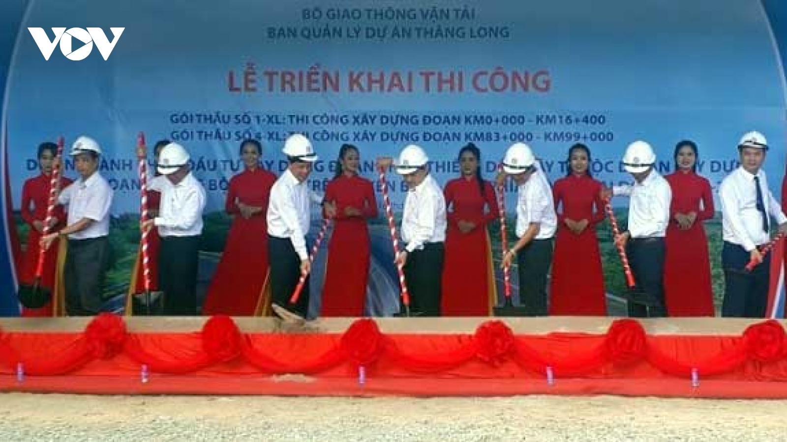 Thi công hai gói thầu Dự án đường cao tốc Phan Thiết - Dầu Giây