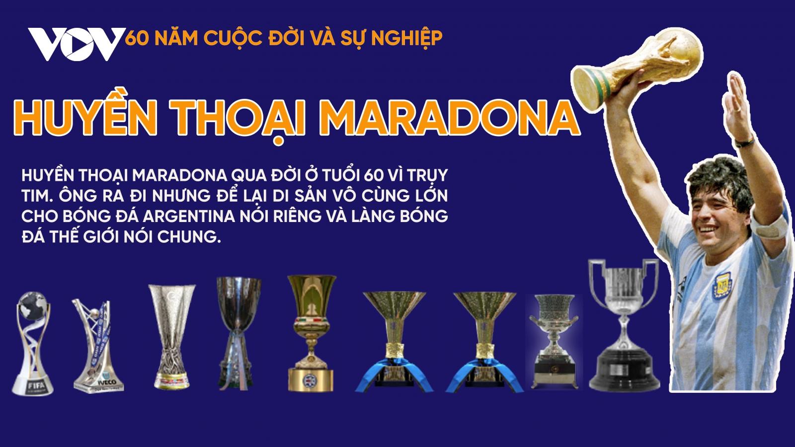 Huyền thoại bóng đá Maradona - 60 năm cuộc đời và sự nghiệp