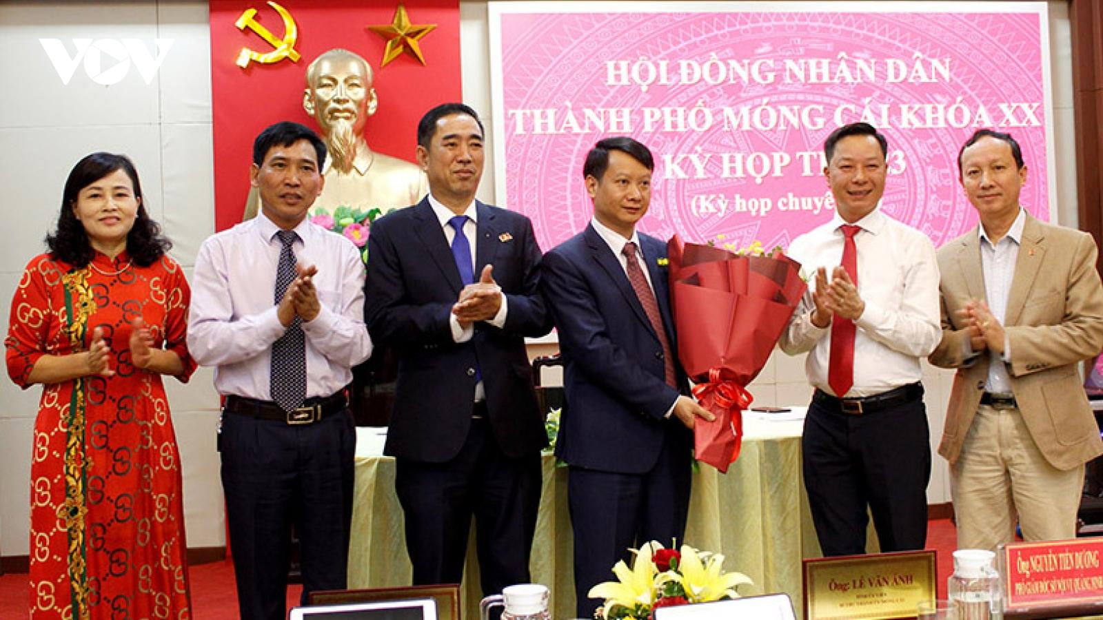 Ông Hồ Quang Huy được bầu làm Chủ tịch UBND thành phố Móng Cái