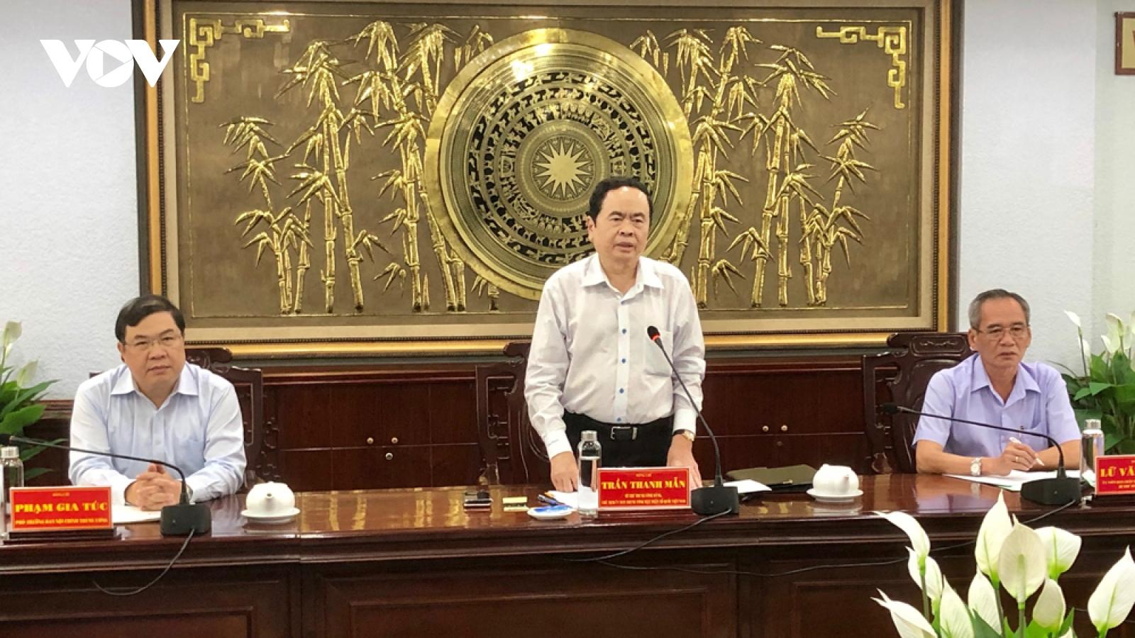 Ông Trần Thanh Mẫn: Phải chú ý khâu phòng tham nhũng