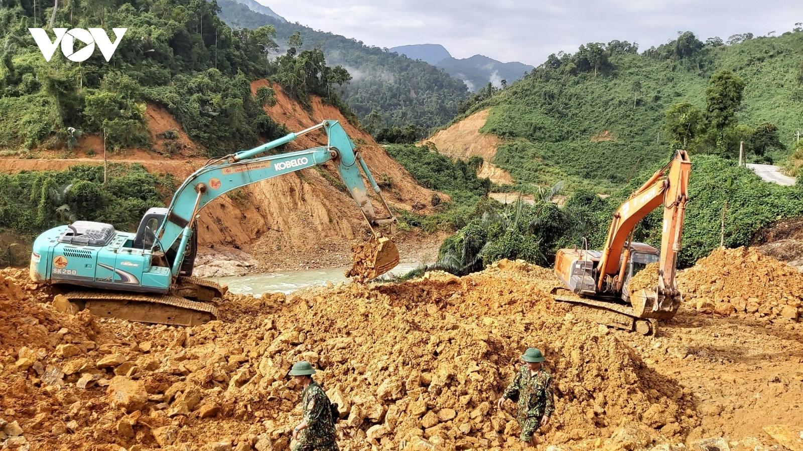 Thừa Thiên Huếnối lại việc tìm kiếm các nạn nhân mất tích tạithủy điện Rào Trăng 3