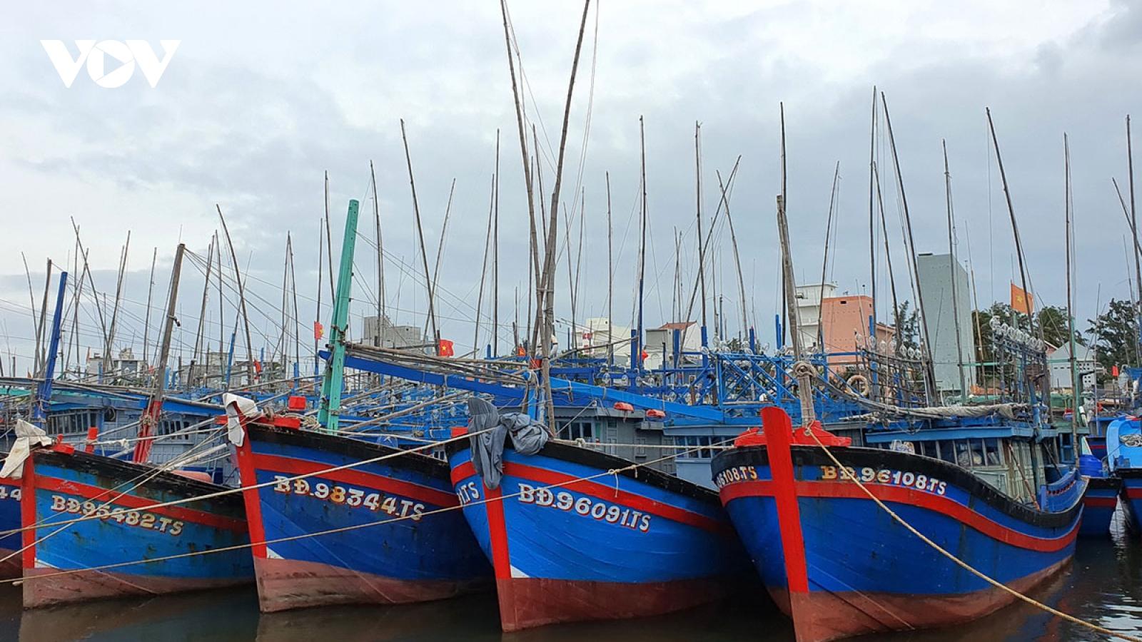 Còn 9 tàu cá Bình Định nằm trong vùng ảnh hưởng bão số 12