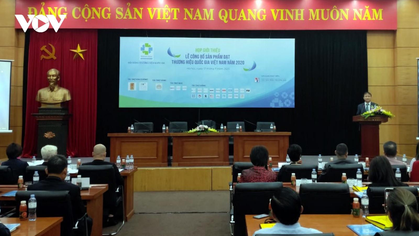124 doanh nghiệp với 283 sản phẩm đạt Thương hiệu Quốc gia Việt Nam 2020