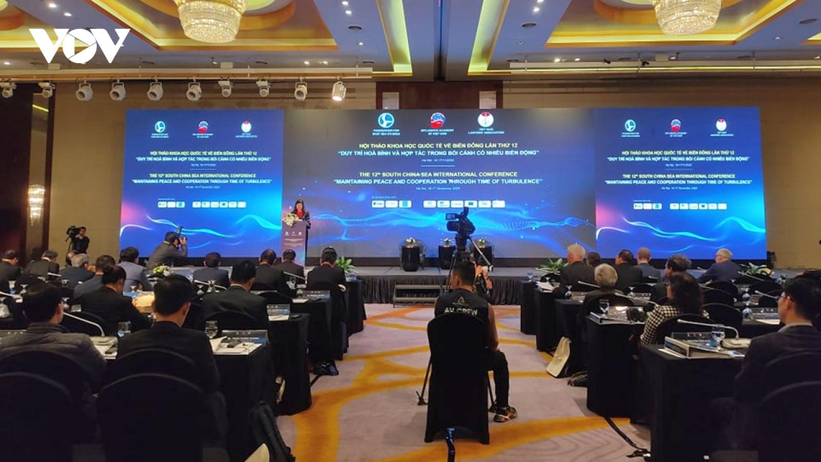 Hội thảo Quốc tế Biển Đông 12 thảo luận các chủ đề thực chất, cấp bách, sát thực tiễn
