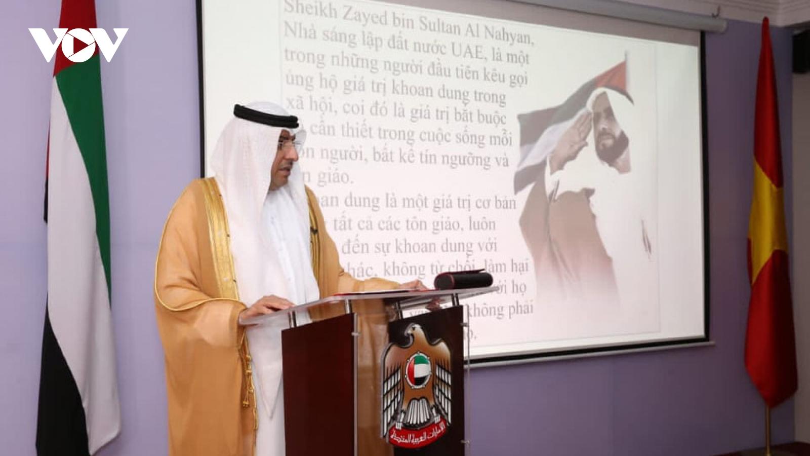 Đại sứ quán UAE tại Hà Nội tổ chức kỷ niệm Ngày Quốc tế Khoan dung