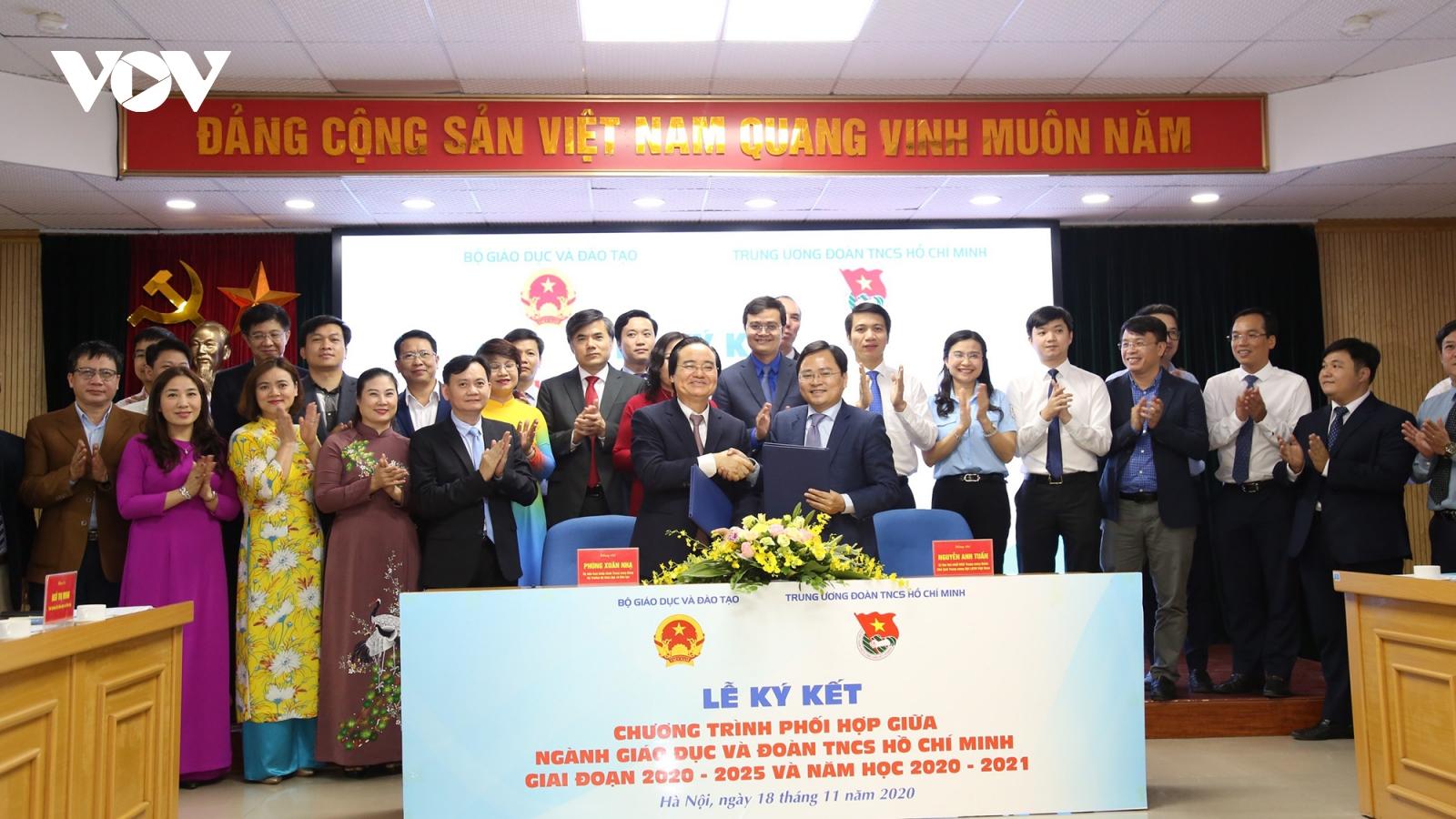 Ký kết chương trình phối hợp giữa ngành Giáo dục và Đoàn TNCS Hồ Chí Minh