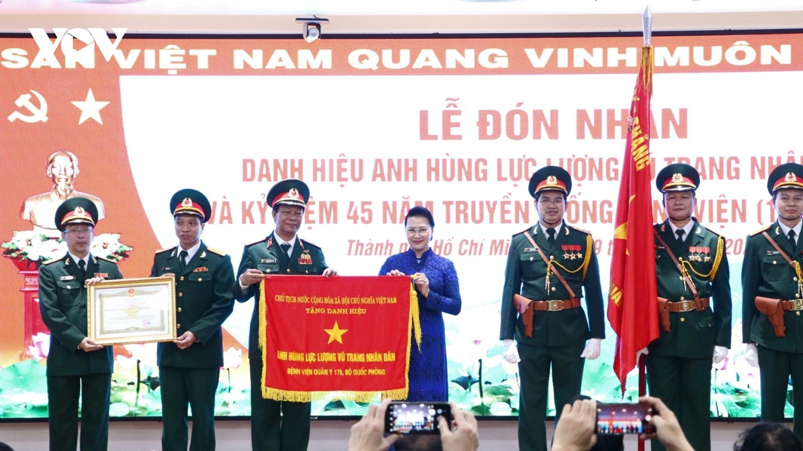 Chủ tịch Quốc hội dự Kỷ niệm 45 năm truyền thống bệnh viện Quân y 175