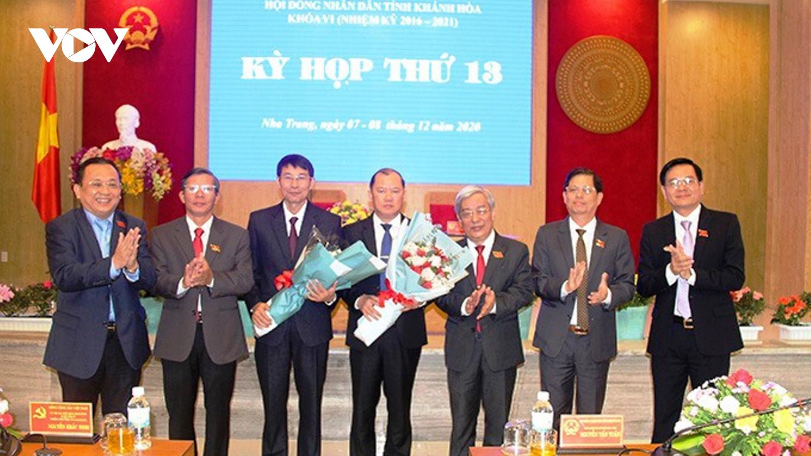 Khánh Hòa có thêm 2 Phó Chủ tịch UBND tỉnh