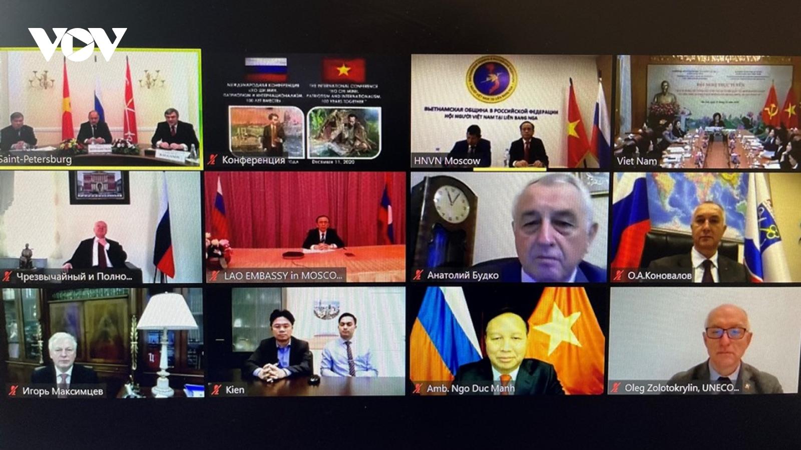 Hội thảo trực tuyến: Chủ tịch Hồ Chí Minh. Chủ nghĩa yêu nước và chủ nghĩa quốc tế