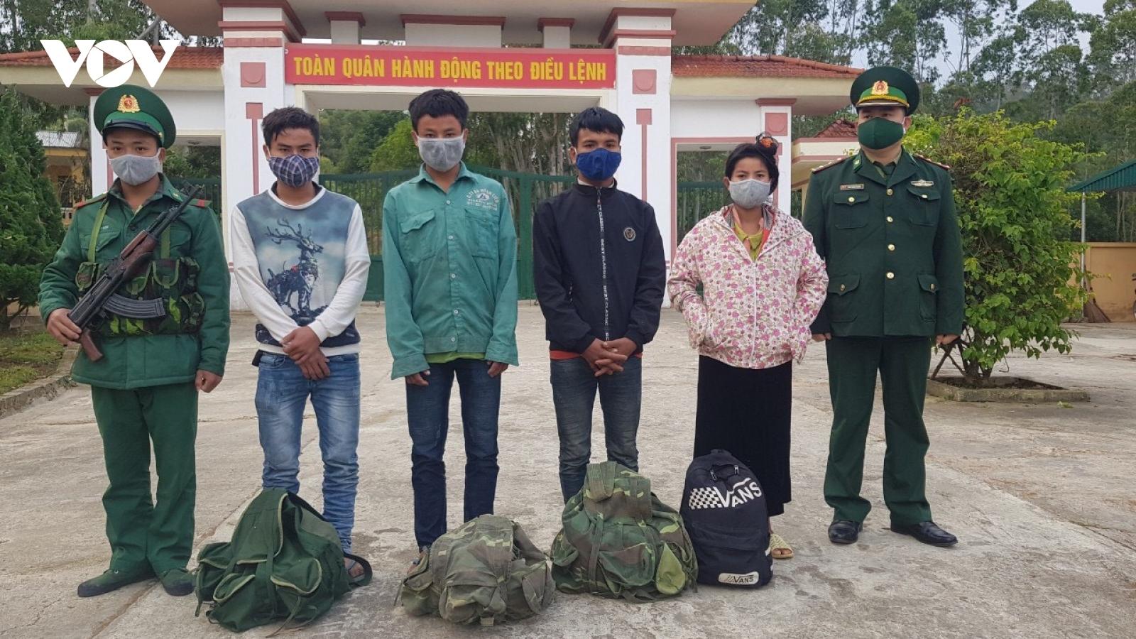Điện Biên bắt giữ 4 đối tượng người Lào vượt biên trái phép
