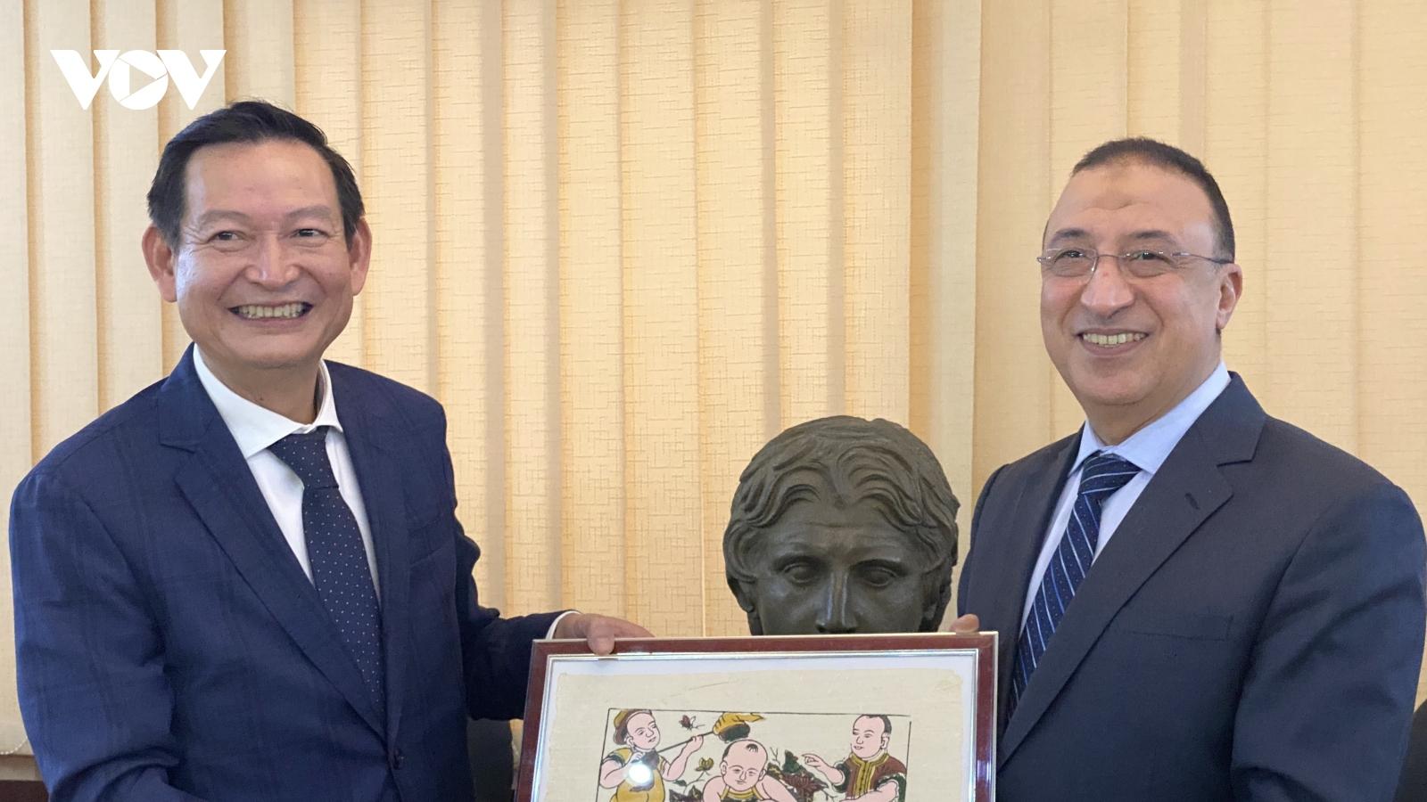 Việt Nam và Ai Cập tăng cường hợp tác cảng biển và thương mại
