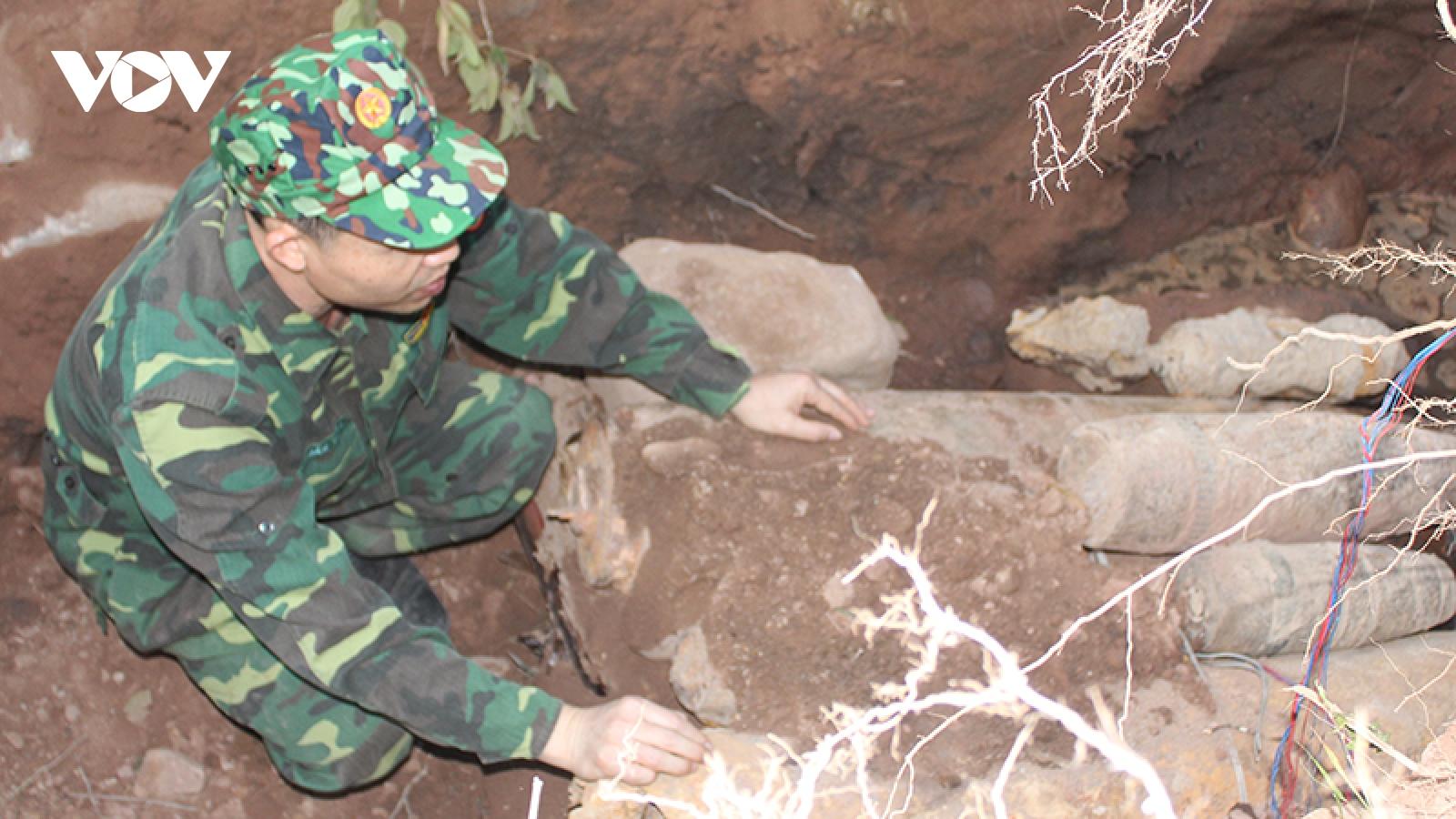 Quảng Ninh hủy nổ thành công 4 tấn bom, đạn, vật liệu nổ