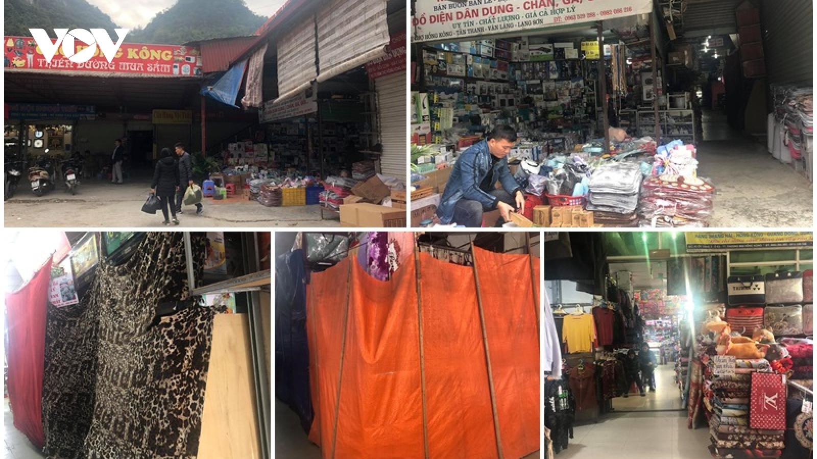 Chợ vùng biên vắng khách dù đã vào mùa mua sắm Tết