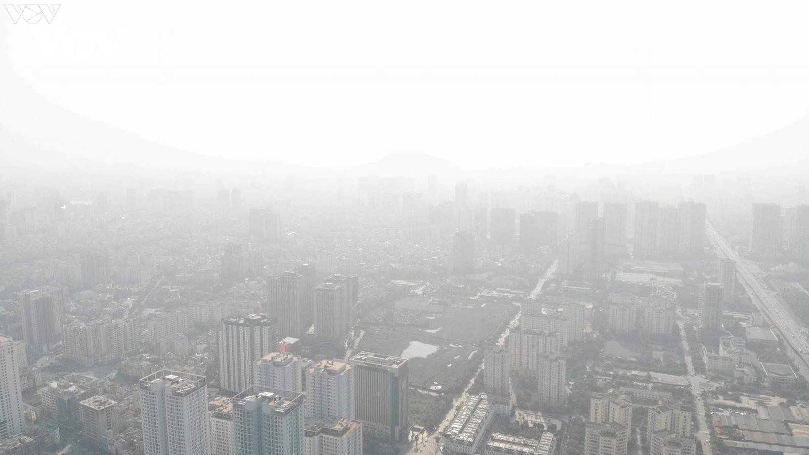 Hà Nội lại ô nhiễm không khí rất nghiêm trọng