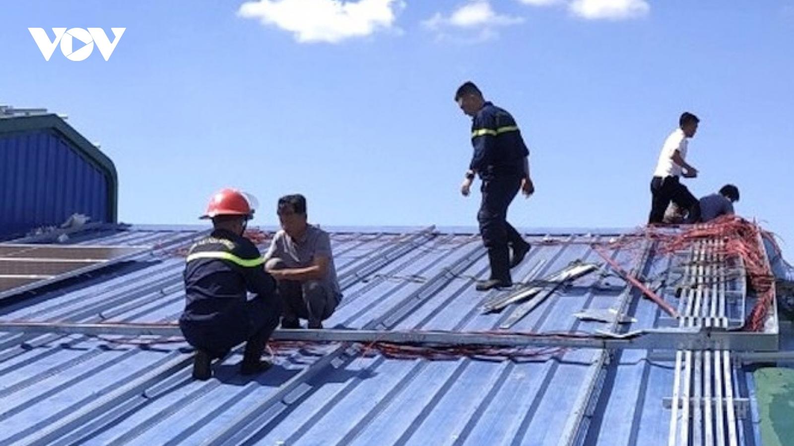 Thêm một vụ cháy hệ thống điện năng lượng mặt trời áp mái ở Gia Lai
