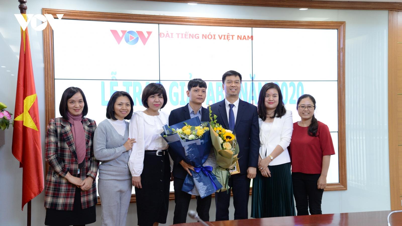 VOV đoạt giải khuyến khích ABU Prizes 2020
