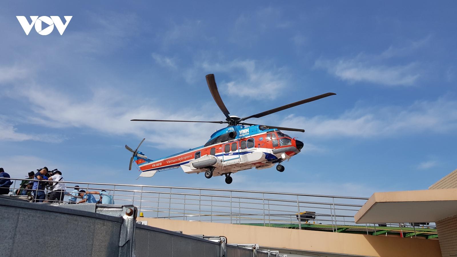 Bệnh viện quân y 175 sẽ có trực thăng Melicopters để cấp cứu ngư dân