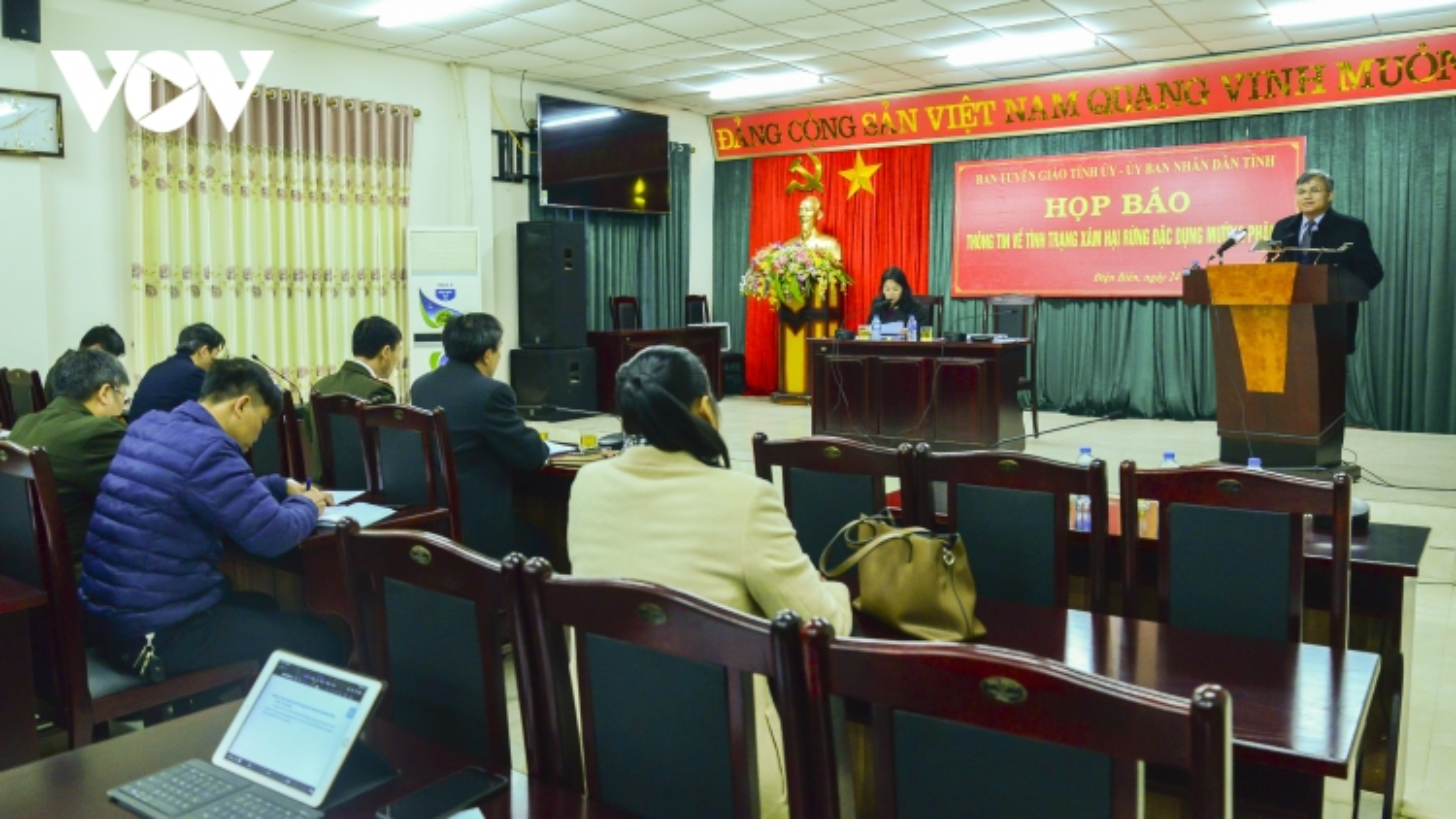 Họp báo thông tin về xâm hại rừng đặc dụng Mường Phăng, Điện Biên