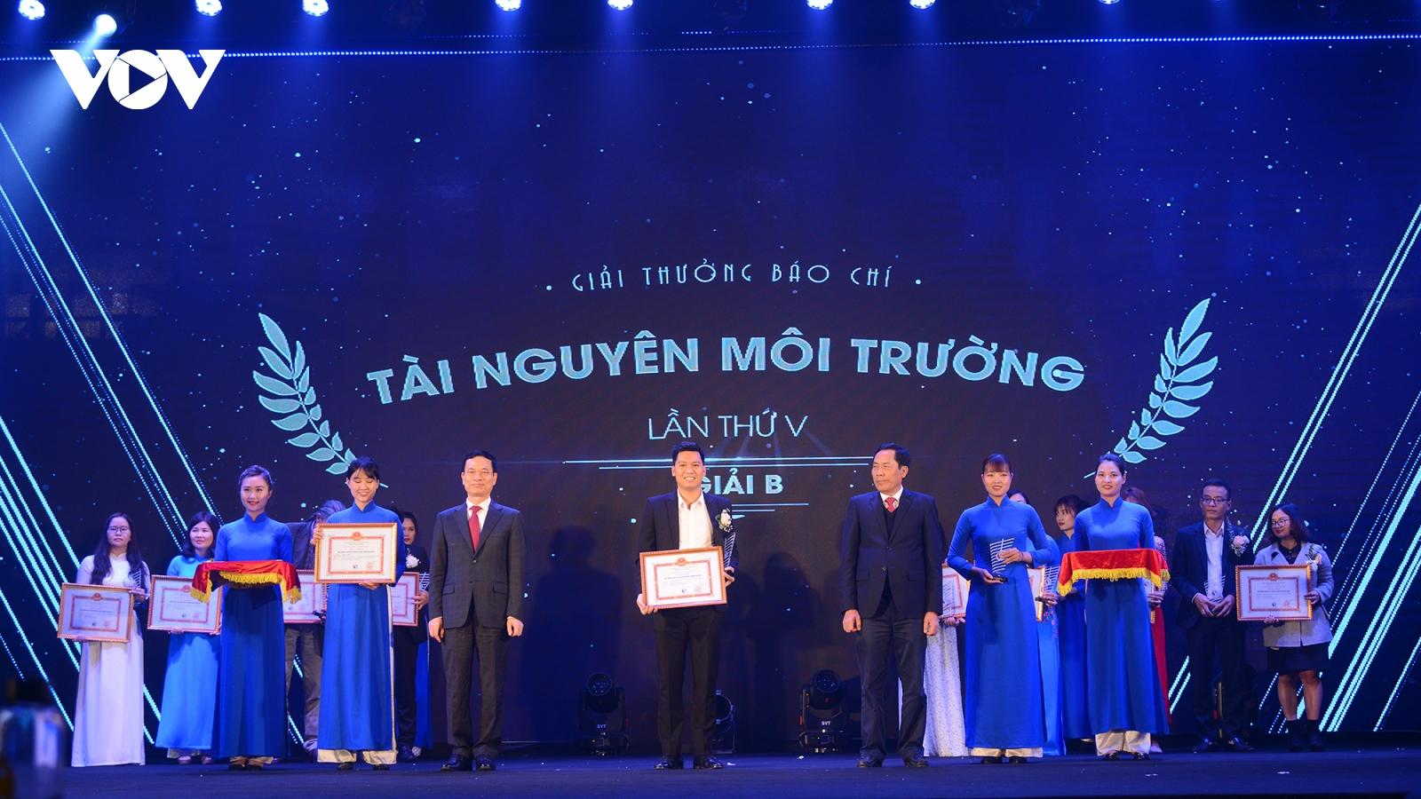 VOV đạt nhiều giải thưởng báo chí về tài nguyên và môi trường