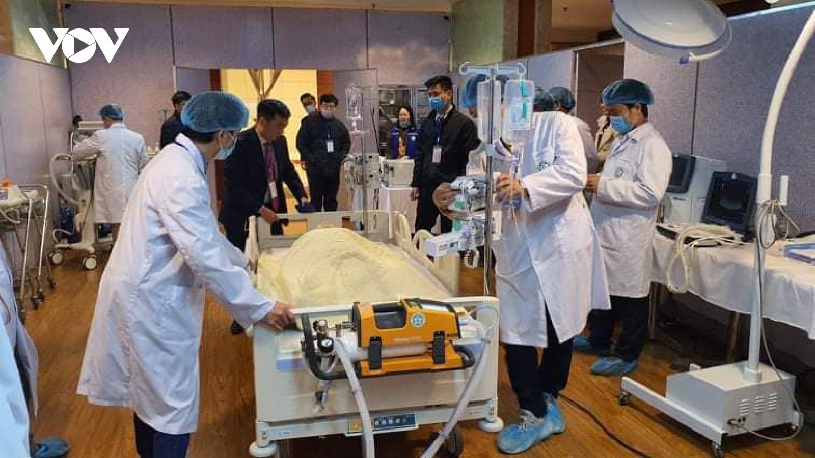 Hơn 300 người tham gia diễn tập công tác y tế phục vụ Đại hội XIII của Đảng