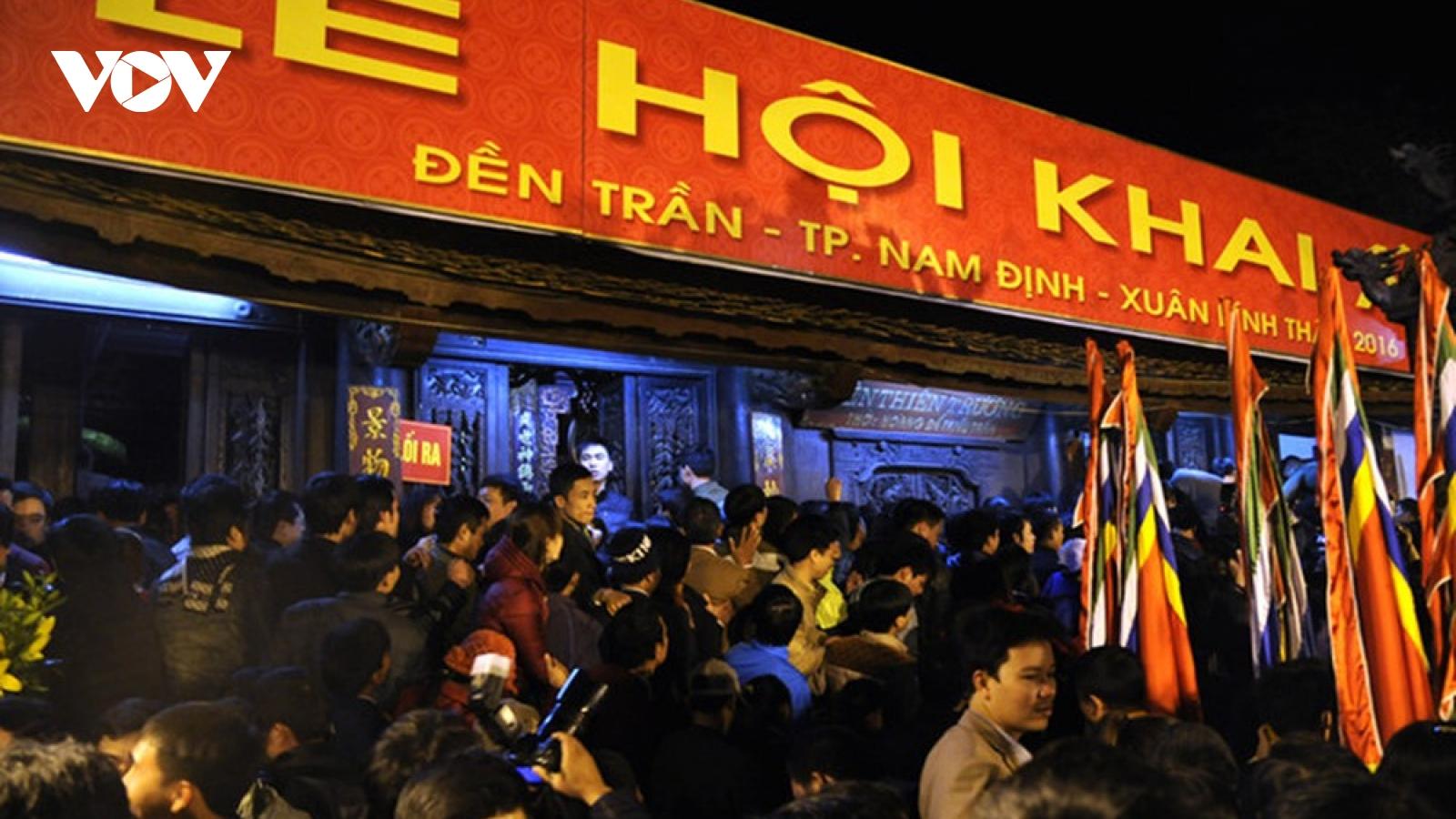 Dừng tổ chức Lễ hội Khai Ấn đền Trần dịp Xuân Tân Sửu 2021