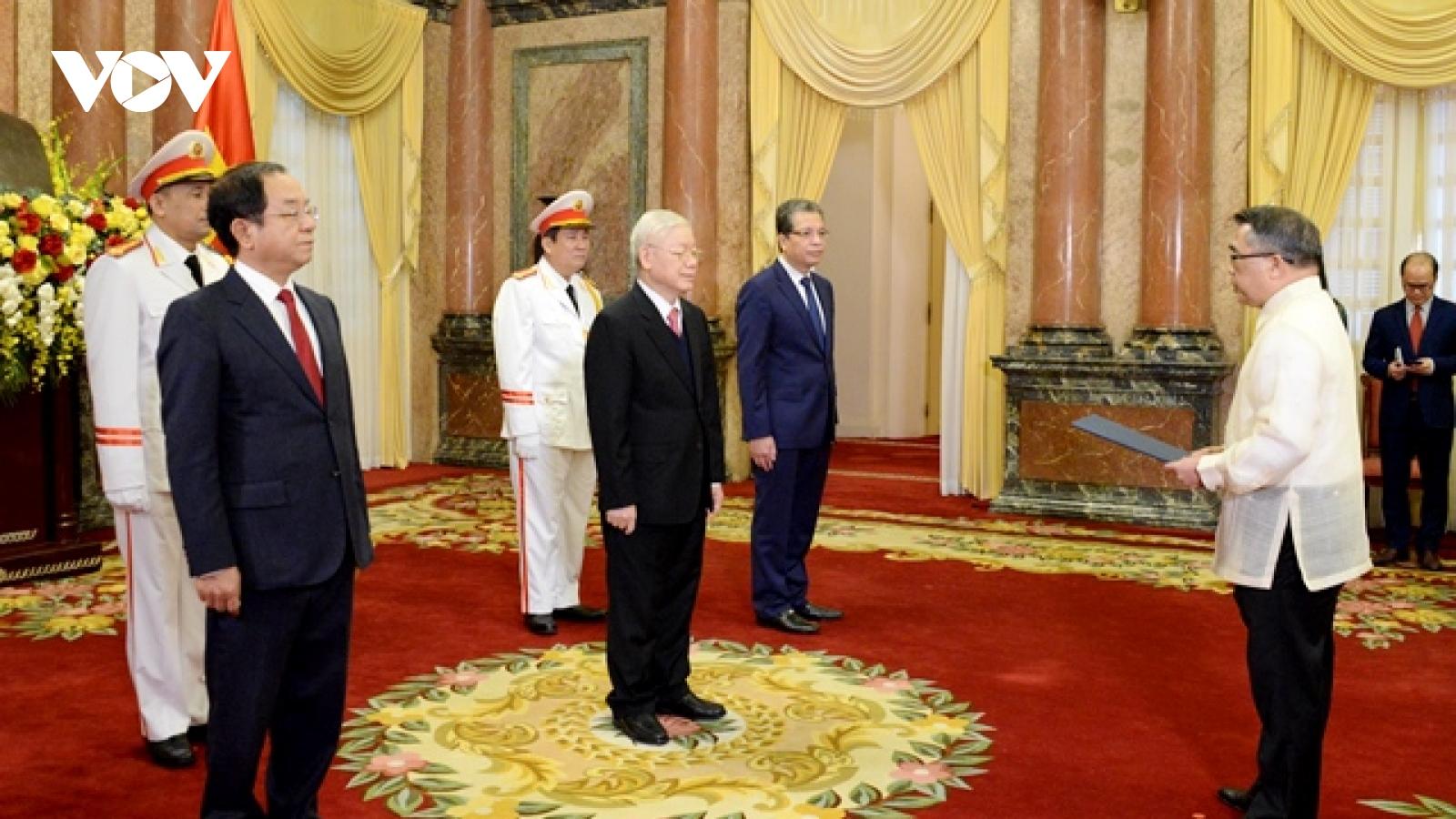 Tổng Bí thư, Chủ tịch nước Nguyễn Phú Trọng nhận Quốc thư củacác Đại sứ nước ngoài