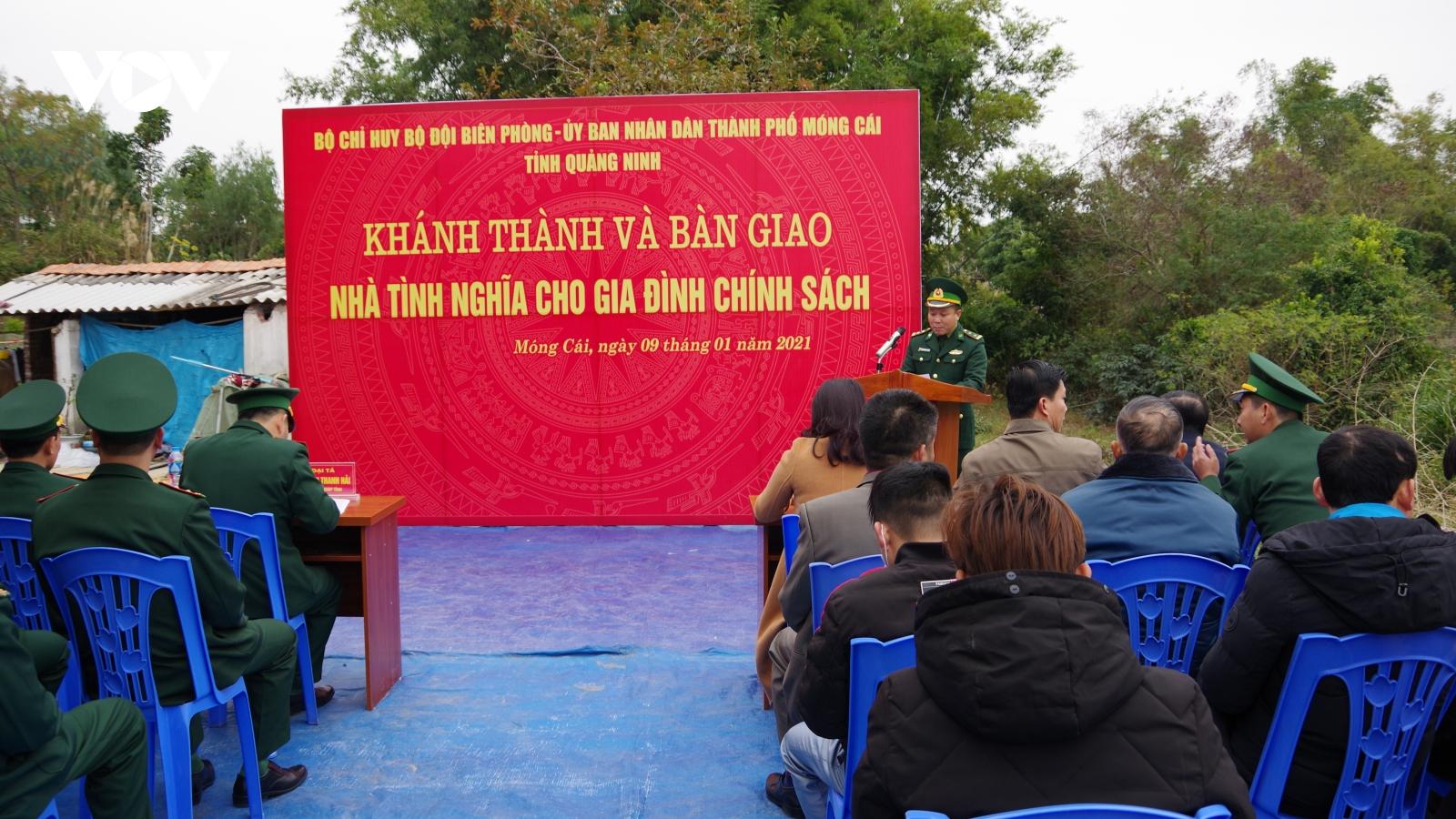 Bộ đội biên phòng Quảng Ninh tặng nhà tình nghĩa cho gia đình chính sách