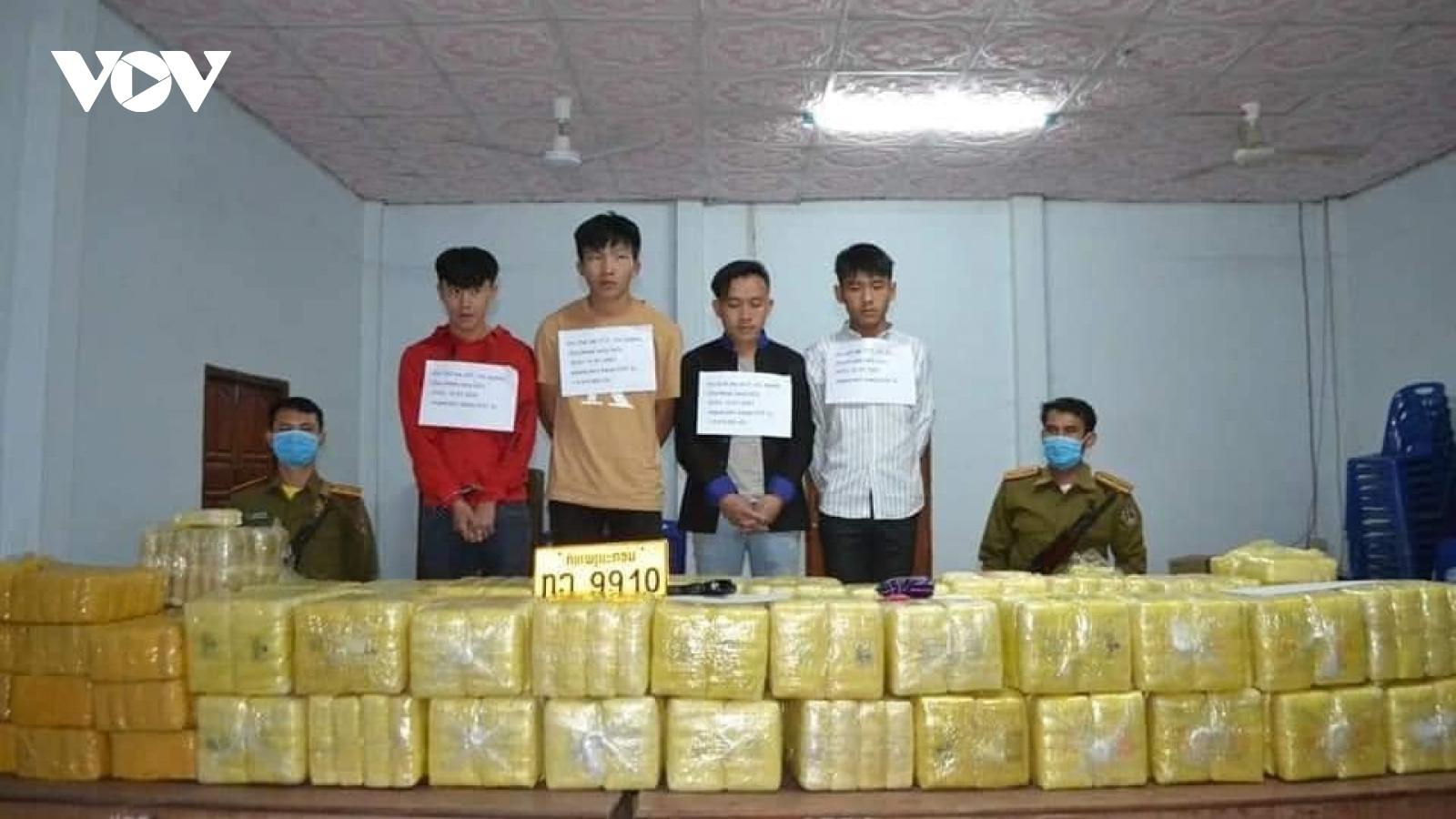 Lào bắt giữ vụ vận chuyển hơn 5 triệu viên ma túy tổng hợp