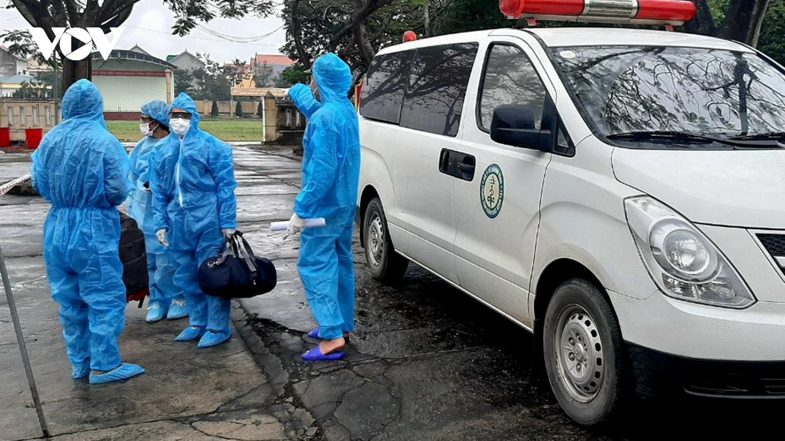 3 người nhập cảnh trái phép trở về Quảng Bình có kết quả âm tính lần 1