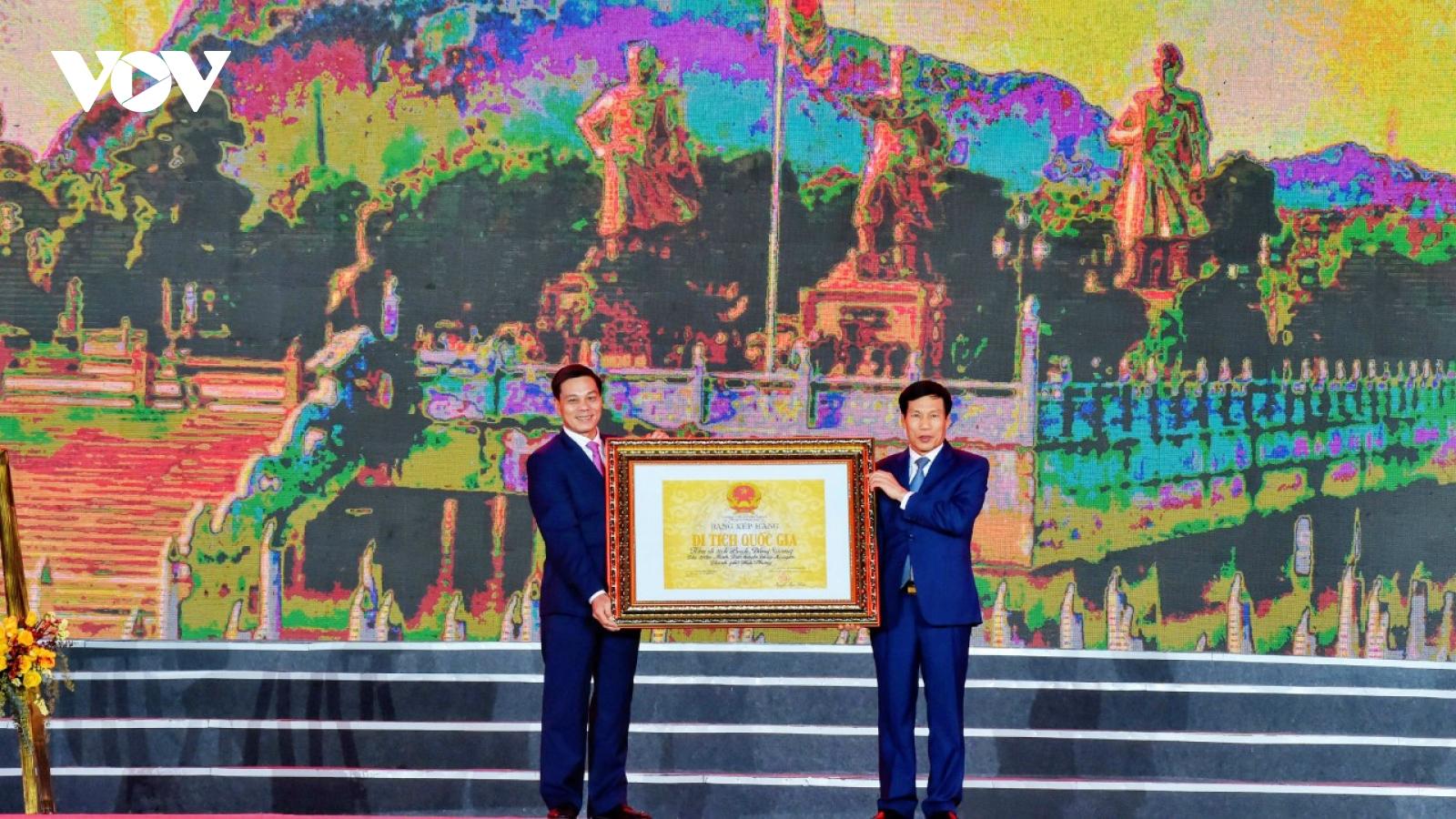 Lễ đón nhận Bằng xếp hạng Di tích lịch sử quốc gia Khu Di tích Bạch Đằng Giang