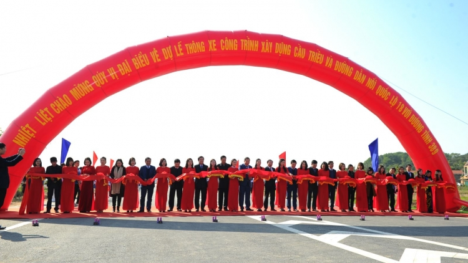 Thông xe cầu Cầu Triều và đường dẫn nối giữa Hải Dương -Quảng Ninh