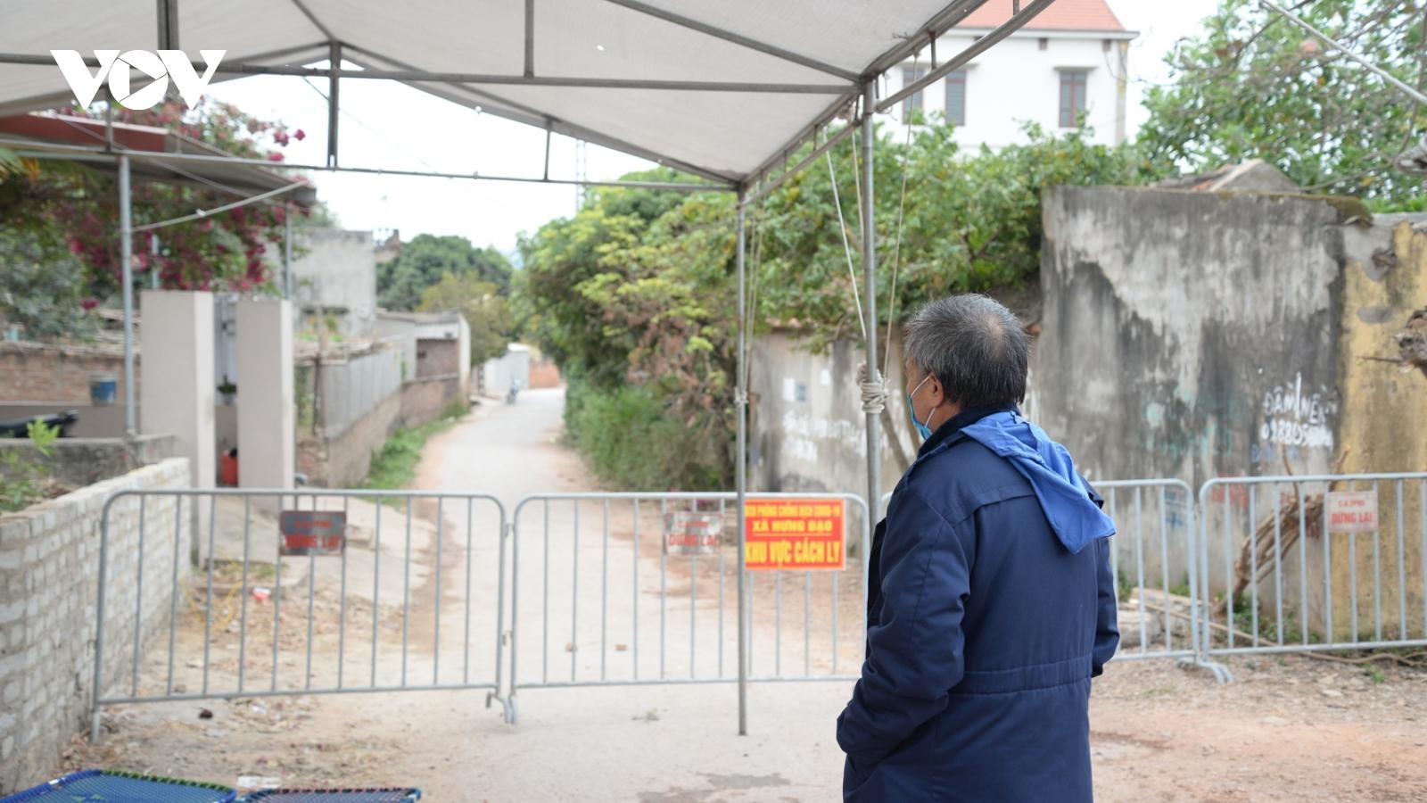 Hình ảnh thôn Kim Điền (Hải Dương) bị phong tỏa