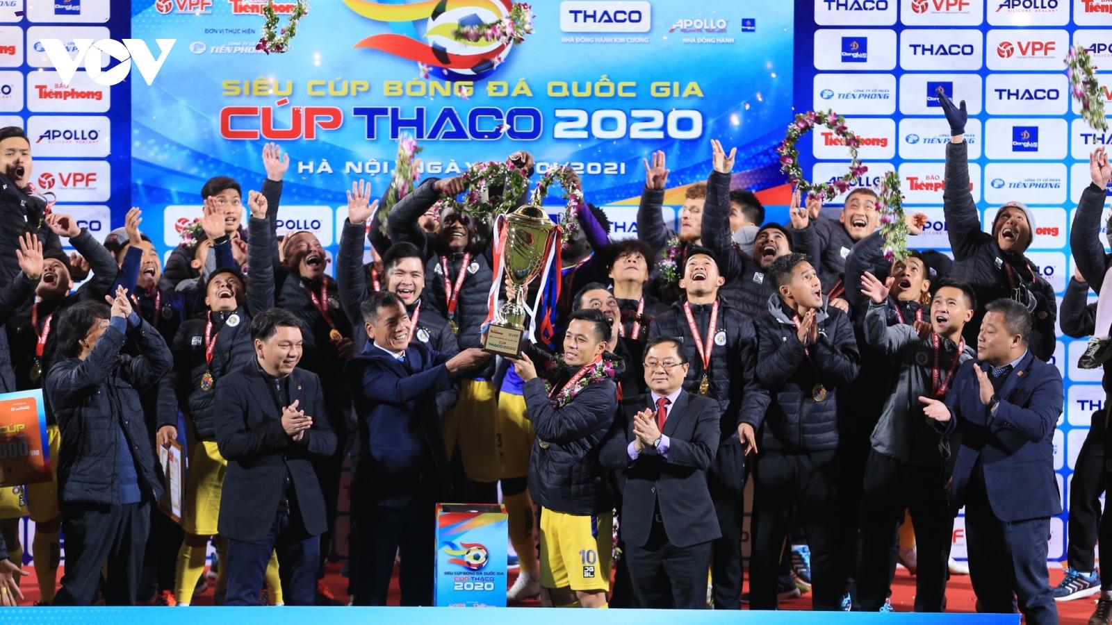 Toàn cảnh: Tuyển thủ U22 Việt Nam lập công giúp Hà Nội FC thiết lập kỷ lục ở Siêu Cúp QG