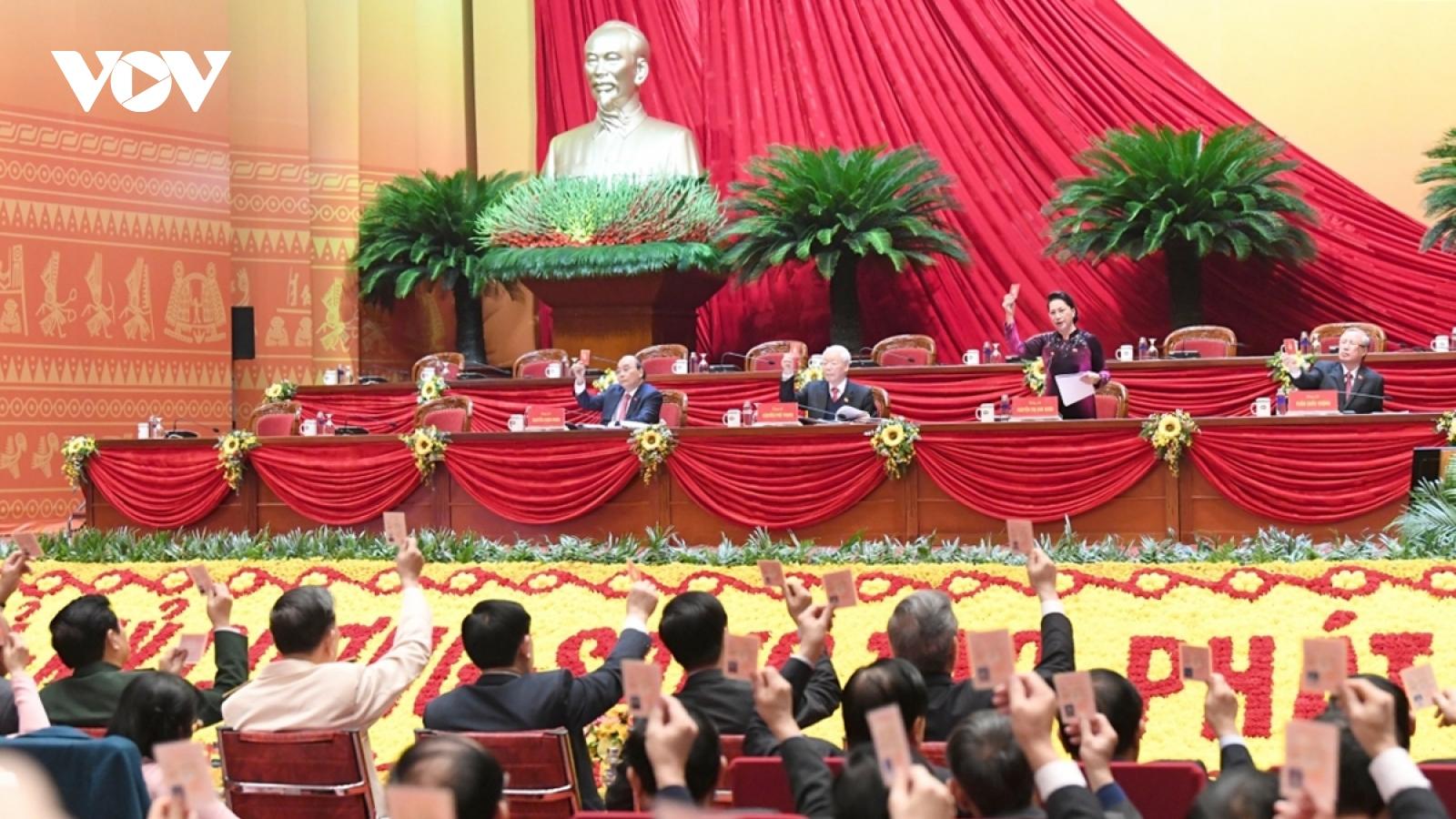 Thông qua chương trình làm việc, quy chế bầu cử Đại hội XIII