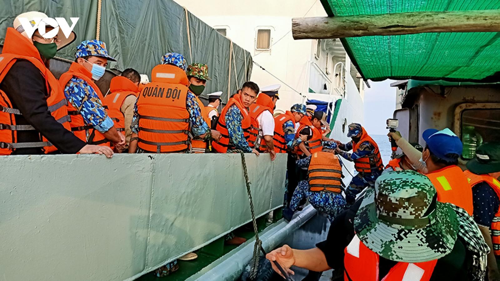 Chuyến thăm và chúc tết trên cụm đảo Tây Nam thành công, an toàn tuyệt đối